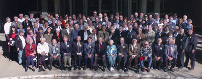 group photograph of attendees during Van Allen Day on October 9, 2004
