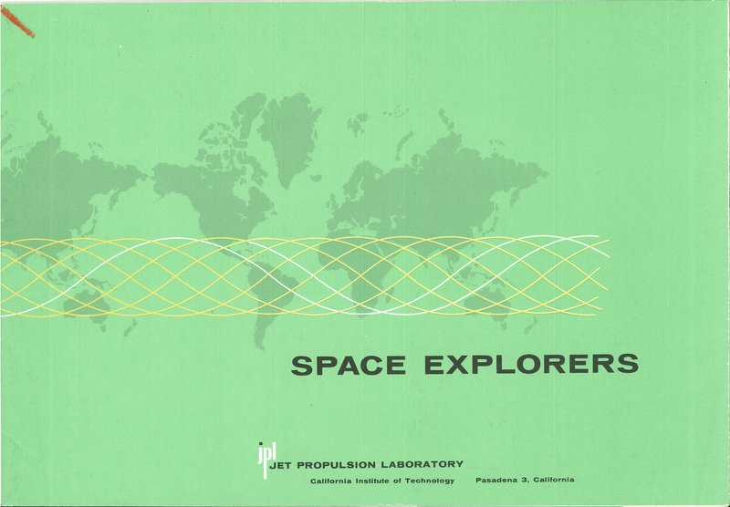 Front cover of Space Explorers published by the Jet Propulsion Laboratory