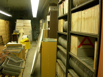 Basement of MacLean Hall in 2009 after the discovery of the Explorer data tapes